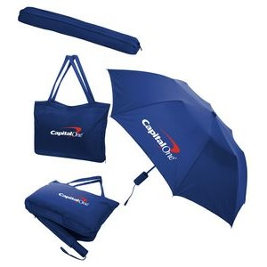 All-In-One Tote Bag & Folding Umbrella